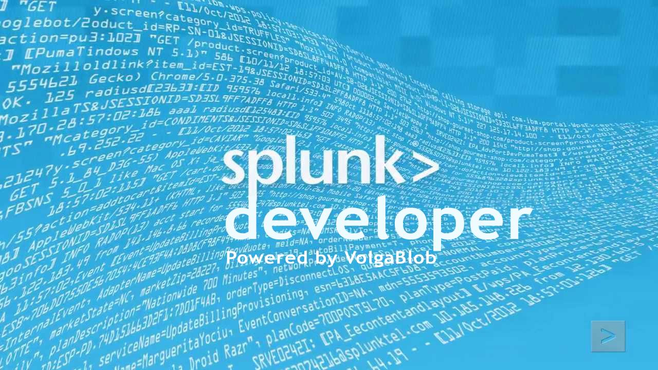 splunk-developer by volgablob